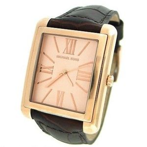 Michael Kors Crocodile Leather Rose Gold Watch